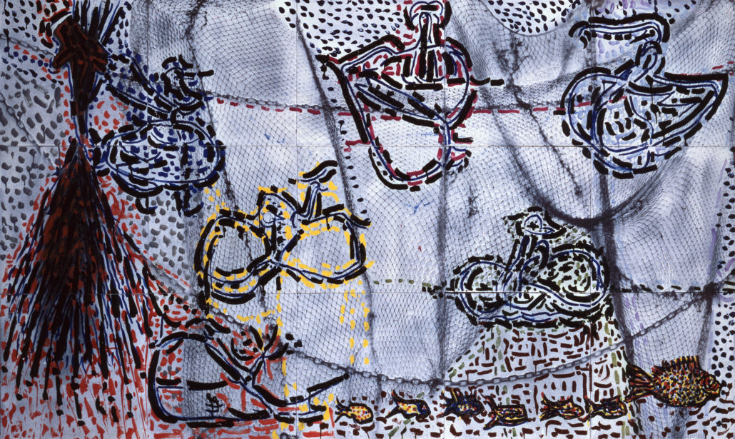 Jean-Paul Riopelle (1923-2002), Untitled, 1984, Enamelled lava, 150 cm x 250 cm