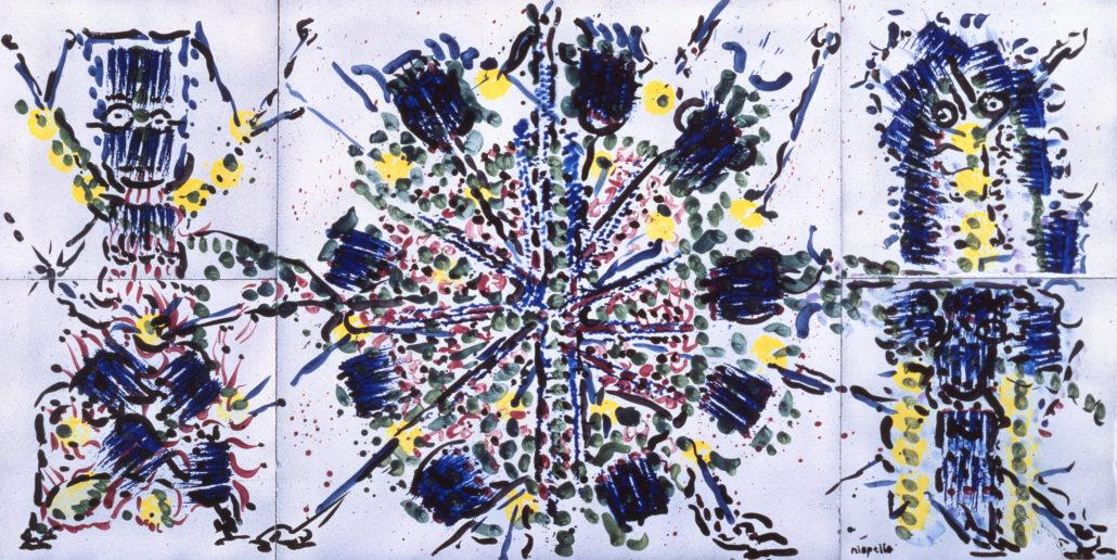 Jean-Paul Riopelle (1923-2002), Untitled, 1984, Enamelled lava, 100 cm x 200 cm